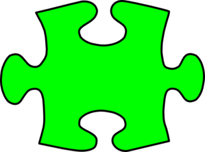 Puzzle Piece Green Clip Art