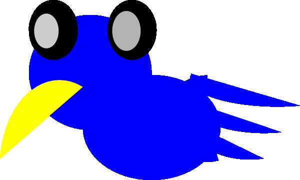 Cartoon blue bird - photo#7