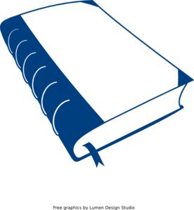 Old Blue Book Clip Art