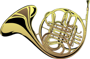 French Horn 4 Clip Art