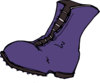Purple Boot Clip Art