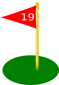 Golf Flag 19th Hole Red Clip Art