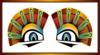 Colorful Sphinx Eyes Clip Art