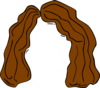 Brown Hair Outline Clip Art