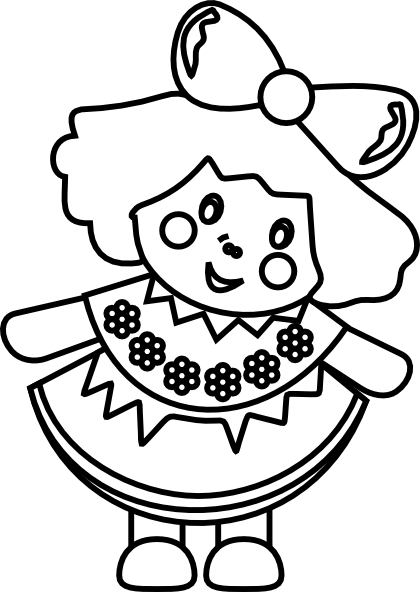 Doll Clip Art at Clker vector
