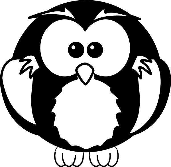 Black And White Owl Clip Art at Clker.com - vector clip ...