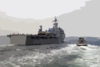 The Command Ship Uss Coronado (agf 11) Enters The Port Of Yokosuka, Japan. Clip Art