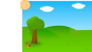 Landscape Childish Clip Art
