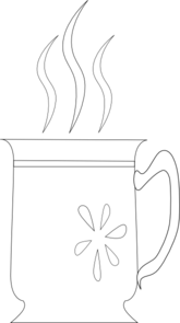 Coffee Cup With Flowers Clip Art