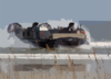 A Landing Craft Air Cushion (lcac) Comes Ashore At Jacksonville Beach, Fla. During An Amphibious Assault Demonstration At The 2003 Jacksonville Sea And Sky Spectacular Clip Art