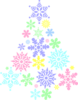 Colorful Snowflake Tree Clip Art