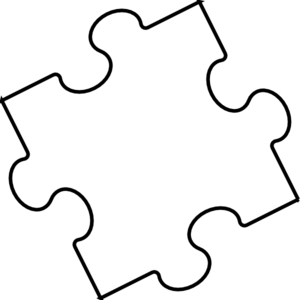 Black And White Jigsaw Puzzles Clipart 1