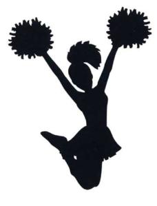 cheer poms clip art at clker - vector clip art online, royalty