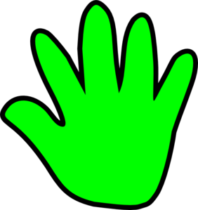 Child handprint green clip art vector clip art online royalty
