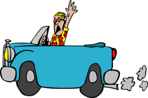Unhappy Man In Car Clip Art