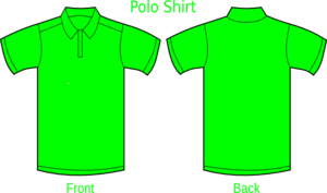 Polo Shirt Green Clip Art