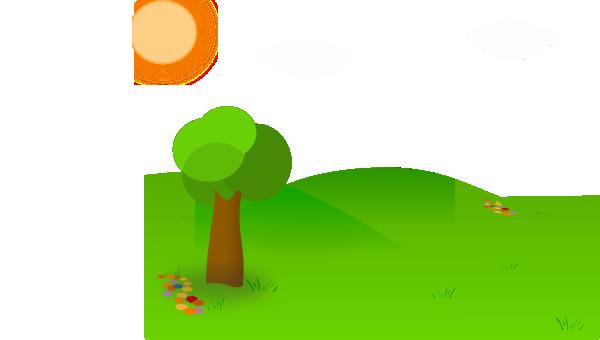 Nice landscape cartoon clip art at vector clip for T green srl