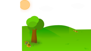 Nice Landscape Cartoon Clip Art