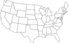 Black And White U.s. Map Clip Art