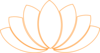 Black/orange Lotus Clipart Clip Art