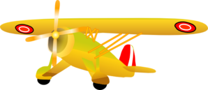 Danish Propel Plane Clip Art