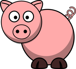 pig clip art at clker com vector clip art online royalty free rh clker com clipart of a pig in a blanket clipart of a pigeon