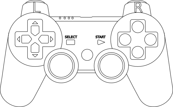 ps3 controller white clip art at clker com