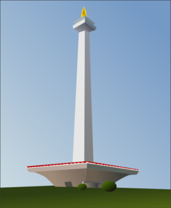 Indonesia Monument Clip Art
