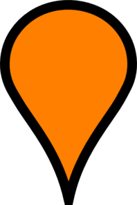 Orange Pinpoint Clip Art At Clker Com Vector Clip Art