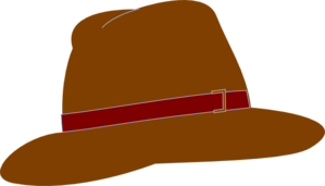 Brown Fedora Hat Clip Art