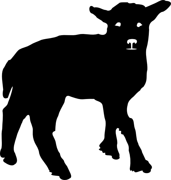 show lamb silhouette clip art Quotes