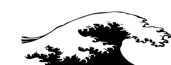 Wave Crashing Black And White Clip Art at Clker.com ...