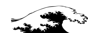 Wave Crashing Black And White Clip Art at Clker.com ...