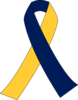 Maize And Blue Ribbon Clip Art