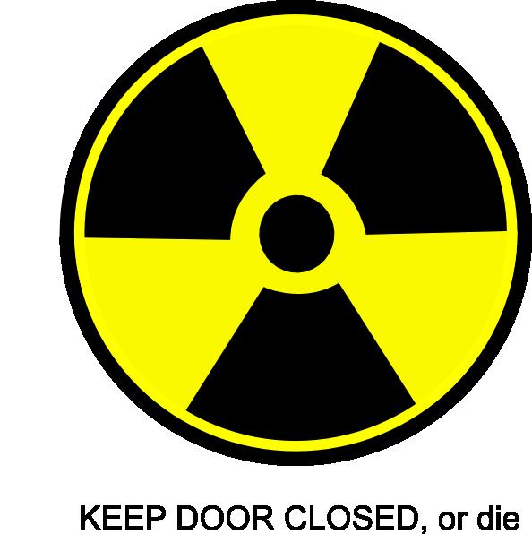 radioactive toilet sign clip art at clkercom vector