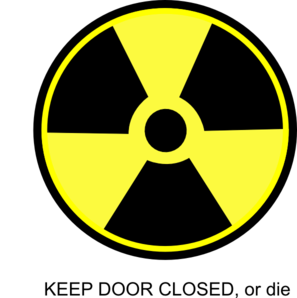 Radioactive Toilet Sign Clip Art