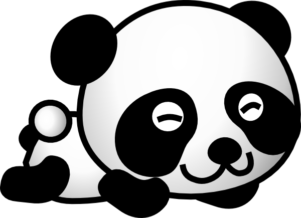 clipart panda winter - photo #31