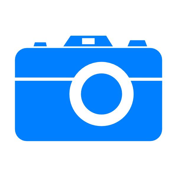 blue camera icon clip art at clkercom vector clip art