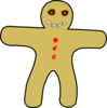 Gingerbread Man 2 Clip Art