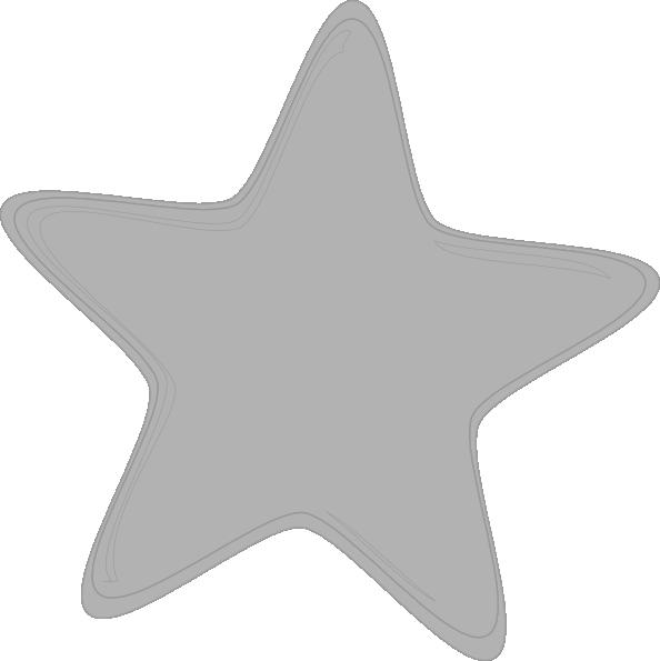 Gray Star Clip Art At Clker Com Vector Clip Art Online