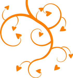 Orange Heart Tree Clip Art