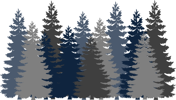 Forest Trees Clip Art Navy Blue Tree Forest ...