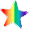 Rainbow Star Edited2  Clip Art