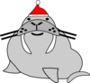 Seal Wearing Santa\ Clip Art