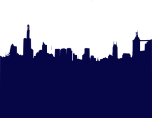 Darker Blue City Clip Art