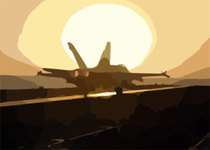 An F/a-18 Hornet Returns Aboard The Uss George Washington (cvn 73). Clip Art