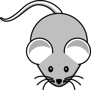 Light Gray Mouse Clip Art