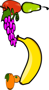 Fruits Five A Day Clip Art