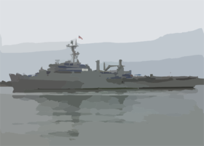 Uss Cleveland (lpd 7) Pulls Into San Diego Harbor Clip Art