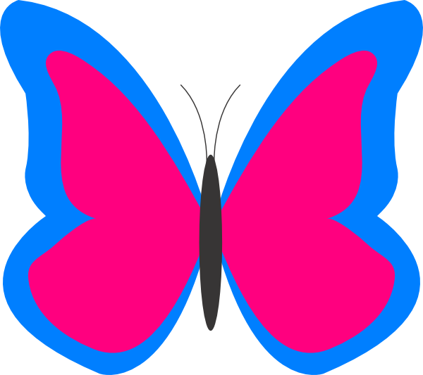 bright butterfly clip art at clker com vector clip art online rh clker com pink and purple butterfly clipart Pink Butterfly Graphics